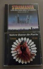 Lot 2 CD Comédie musicale : Starmania 94 - Notre Dame de Paris