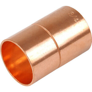 """NEW copper plumbing pipe end feed metric to imperial adapter,15mm x 1/2""""   FXF"""