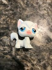 Littlest Pet Shop Lps White Angora Cat # 9 Blue Eyes Kitty Rare