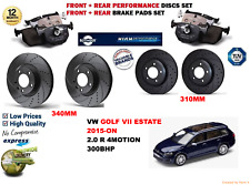 FOR VW GOLF 2.0 VII EST 15- FRONT & REAR PERFORMANCE BRAKE DISCS SET + PADS KIT