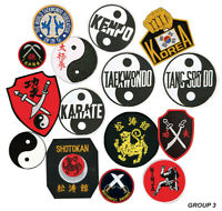 Martial Arts Logo Patches, Karate,Taekwondo, Kenpo Shotokan Sew-on Group 3