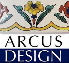 Hand Painted Mexican Border Tiles 11cm x 5.5cm machine cut Top Quality AUS STOCK