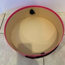 "Vintage Pink Black Schiaparelli Hat Box (No Hat) 14"" X 4.5"" 1950's Fashion"