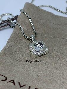 David Yurman Petite Albion Pendant Necklace With White Topaz & Diamonds