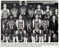 1969 - 70 ABA New Orleans Buccaneers Team Picture Black & White 8 X 10 Photo