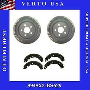 Rear Brake Drums & Brake Shoes For Plymouth Acclaim 1990-1991-1992