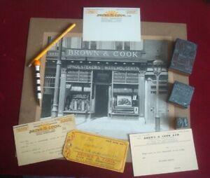 BIRMINGHAM BROWN & COOK SHOP PHOTOGRAPH / PRINTING BLOCKS  PENCIL  PEN  CARDS