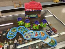 VINTAGE FISHER PRICE GAMES TURTLE PICNIC MATCHING MEMORY W/ LILY PADS AGE 3 - 7