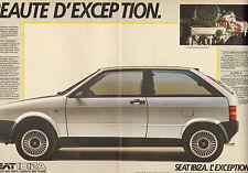 """Publicité Advertising 1985  (Double page)  SEAT IBIZA 1.5  GLX  """"S"""""""