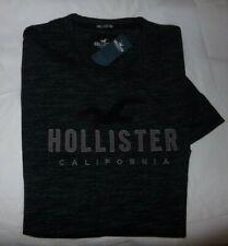NWT MENS HOLLISTER CALIFORNIA S/S T-SHIRT~BLACK~SZ LRG