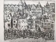 Baudartius Bor Dutch Revolt Rare Engraving Antwerpen Belgium (3)- 1621