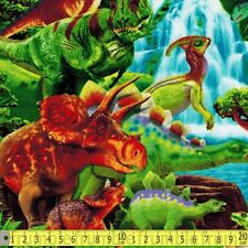 Timeless Treasures Fabric Baby Dinosaurs Green PER METRE Dinosaur Dinos Monsters