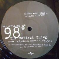 "98 DEGREES ~ The Hardest Thing ~ 12"" Single PROMO"