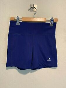 Adidas Climalite Women's Compression Shorts Size MEDIUM Blue Booty Gym EUC