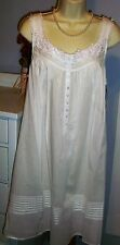 NWT M Medium Eileen West Nightgown Gown 100% Lawn Cotton NEW White $64