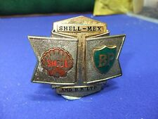 vtg badge shell mex bp petrol oil cap badge lubricants advert 1930s 40s ?