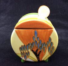CLARICE CLIFF STYLE - MMA - LIDDED SUGAR BOWL - METROPOLITAN MUSEUM OF ART 1993