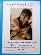 FONTANAROSA Lucien Affiche originale 93 Musique Flûte Enfant Bernheim - Jeune