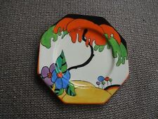 Lovely Clarice Cliff Woodland Octagonal Tea Plate - Stunning!