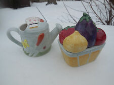 Omnibus By Fitz & Floyd Garden Vegetables Cream And Sugar Set 1995
