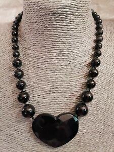 Lola Rose Black Onyx Large Heart Necklace