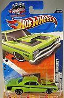2011 Hot Wheels #110 Muscle Mania 10/10 '69 DODGE CORONET SUPER BEE Green w/MC5s