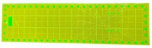 "Fluorescent Square Non-Slip Quilting Ruler 6.5"" x 24"""