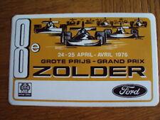 8eme Grand prix ZOLDER 1976 FORD autocollant sticker auto