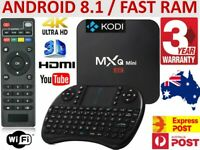 *2020* MXQ FHD WIFI 4K Quad-Core Android Smart TV Box + AU Warranty