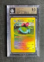 Pokemon BGS 9.5 (I T A L I A N) Venusaur Rev. Foil Expedition #30/165 Gem Mint