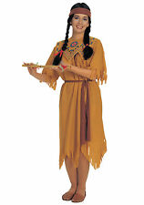 Pocahontas Native American Indian Wild West Womens Pocohontas Costume One Size