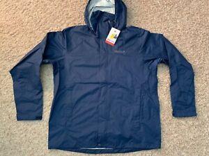 NWT Marmot Precip Jacket - Men's Large - 'Arctic Navy' Blue (6061)