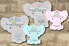 30 Elephant Baby Shower Invitations Theme Cards Die Cut Boy Girl Baby Shower