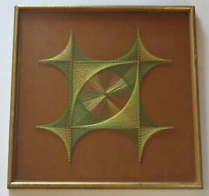 RAY SCHECHTER ABSTRACT EXPRESSIONISM MODERNISM NON OBJECTIVE POP OP STRING ART