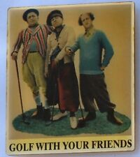 The Three Stooges, Golf with your Friends Refrigerator Photo Magnet, vtg 1990s