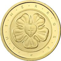 Deutschland 50 Euro Lutherrose Gold 2017 Reformation Martin Luther Goldmünze