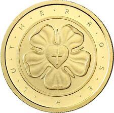 Deutschland 50 Euro Lutherrose Gold 2017 Reformation Martin Luther Goldmünze