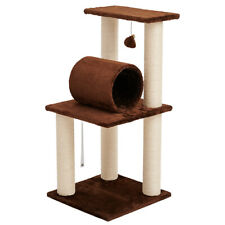 """33"""" Pet Cat Condo Tree Play Tower Bed Furniture Scratching Post Toy House Sisal"""