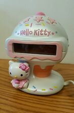 "Hello Kitty Ice Cream Alarm Clock Radio 5.5"" tall Sanrio"