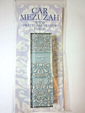 "Car Mezuzah 2.5"" Acrylic OPAL GOBLET with Travelers Prayer Scroll"