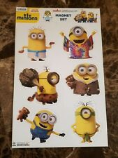 Minions Kids Movie 6 PC Magnet Collection Set & FREE $3.99 Air Freshener