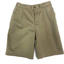 Lands' End Boys 12H Pleated Front Khaki School Uniform Casual Shorts