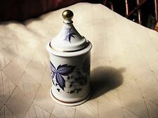 Insolito Vintage Blu Bianco trasferimento Floreale Dorato POT & Coperchio una Manopola Palla Portogallo