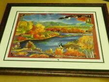 "Nancy Dunlop Cawdrey "" MADISON RIVER AUTUMN "" S/N Framed Print #417 of 600"