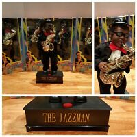 New! The JAZZMAN Tuxedo Animated Singing Swinging Dancing Plays Saxophone Toy