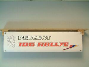 Peugeot 106 BANNER Series 1 Rallye Car Show workshop Garage Display S1