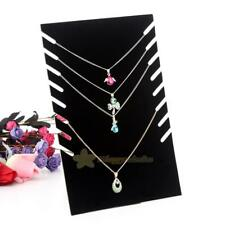 Necklace Pendant Jewelry Chain Display Holder Stand Velvet Easel Organizer Rack