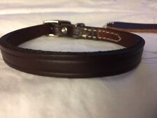 New Circle T Coastal Pet Products Premium Brown Leather Dog Collar 12