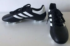 Adidas Goletto Moulded Studs Football Boots Black/White Mens Size 8 - Art AQ4281