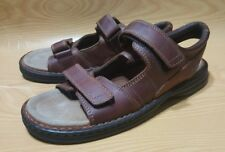 038987e786d8 Nunn Bush Brown Leather Strap Sandals 10 M Mens Shoes